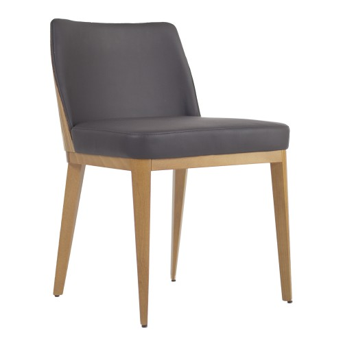 ARIA CHAIR WOOD BACK ANGLE
