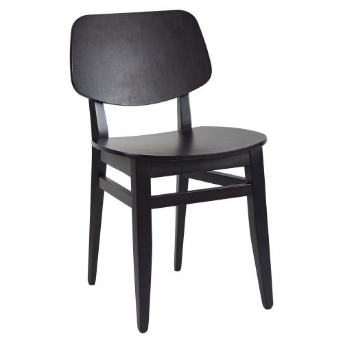 CLARA CHAIR BLACK ANGLE