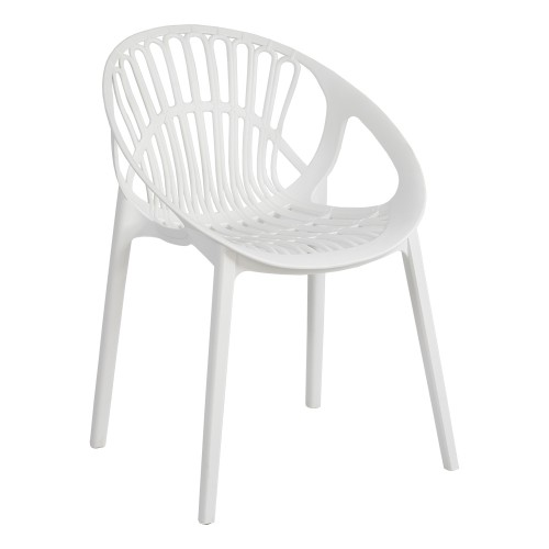 LOON CHAIR WHITE ANGLE